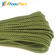 New Colors Paracord 550 100FT Paracord Rope Type III 7 Stand Parachute Cord Outdoor Camping Survival Rope Wholesale(China)