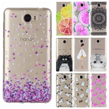TPU Soft Cases sFor Fundas Huawei Y5II Y5 2 Huawei Y6 II Compact case for Honor 5A LYO-L21 Drawing Silicone Phone Cases Cover
