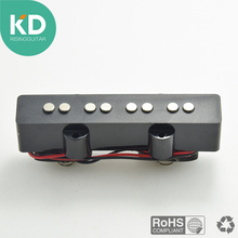 1 pcs 4 String Bridge or Neck Pickups for Jazz JB Bass Black Open Style Black