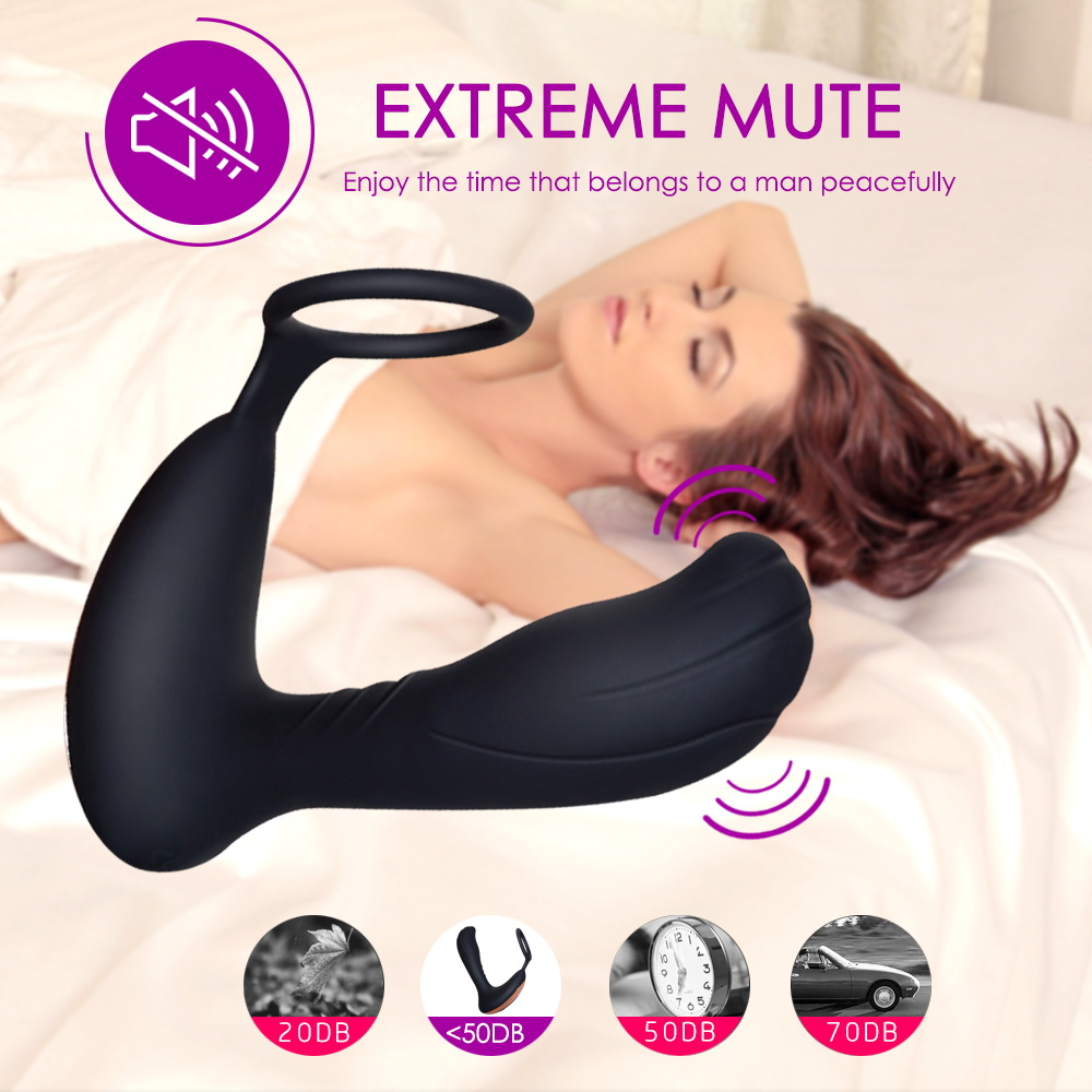 Anal Plug G Spot Men's Sexual Goods Toy Masturbation New Remote Prostate Massager USB Rechargeable Cock Ring  Docking