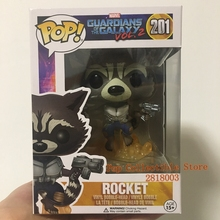 Official FUNKO POP Marvel: Guardians of the Galaxy 2 - Flying Rocket Vinyl Figure Collectible Toy with Original box(China)