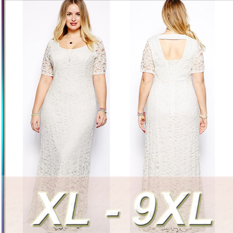 MUXU sexy white lace dress women vestido plus size women clothing BIG SIZE XL-9XL dresses large sizes robe women dress elegant