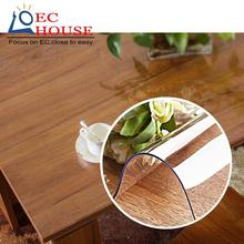 transparent mat table mats PVC Waterproof oil burn proof plastic soft glass cloth FREE SHIPPING