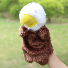 SUN & CLOUD 1 Pcs Kid Eagle Hand Finger Puppet Children Toy Doll Baby Plush Stuffed Toy Christmas Birthday Gift(China)