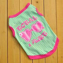 Wholesale Cotton Sun Glasses Vest For Dog Shirt Dog Clothing For Cats Teddy Poodle Cool Funny T Shirt Gatos