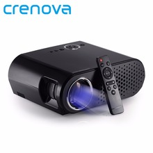 Crenova 2017 New GP90 3200 Lumen Projector Full HD Video 1280x800 HDMI VGA USB 1080P Home Theater Meeting Room Projector(China)