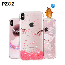 Buy PZOZ apple iphone x 10 Case Rhinestone Glitter Silicone Cover Original coque Luxury Crystal Diamond Soft Shell ultra thin for $3.99 in AliExpress store