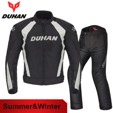 DUHAN Men Warm Motocross Suits Jacket&Pants Motorcycle Racing Jackets Clothing Trousers Breathable Moto Chaqueta Protective Gear(China)