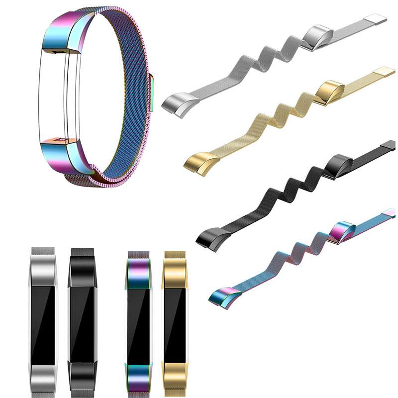 Amzdeal Fashion Metal High Quality Replacement Strap Wrist Band Belt for Fitbit Alta Bracelet HR Monitor Smart Watch Accessories 1