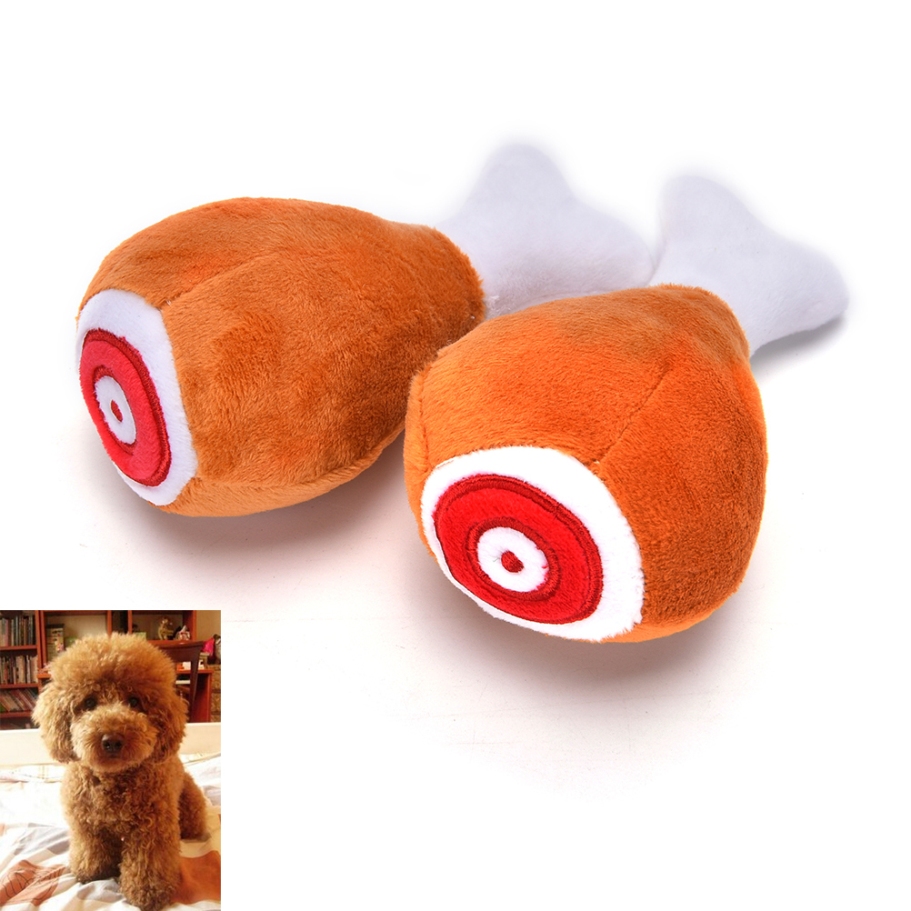 2017 Hot Sale Chicken Plush Filled Cotton Sound Squeaker Dog Toys Better Lovely Pet Toy