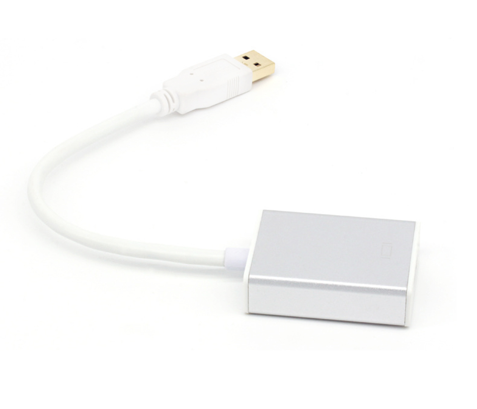 USB3.0 Male to HDMI Female Converter Cable 1080P Cable Aluminium Alloy  (7)