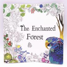1pcs 12 Sheets 24 Page Adult Child Graffiti Book The Enchanted Forest A Colouring Book  Intellectual Development Relieve Stress