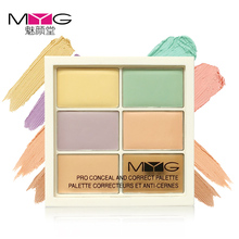 Christmas gift Natural Professional Concealer 6 Colors Contour Palette Makeup Foundation Base Face Cream Cosmetic Make Up Primer(China)