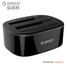 ORICO USB 3.0 to SATA Dual-Bay Hard Drive Docking Station for 2.5/3.5 inch HDD/SSD with Offline Clone Function [UASP Protocol](China)