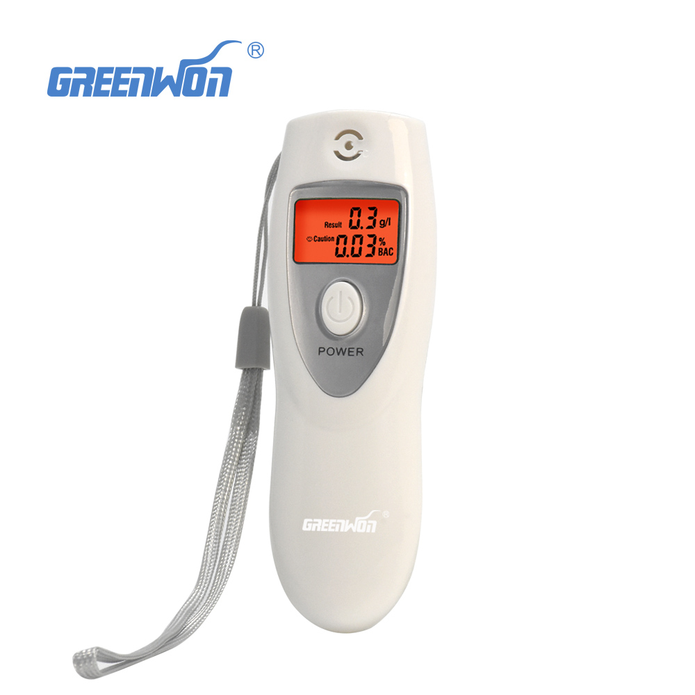 Free shipping !Hot White Portable LCD Digital Breath Alcohol Analyser Breathalyzer Tester inhaler alcoholmeters(China (Mainland))