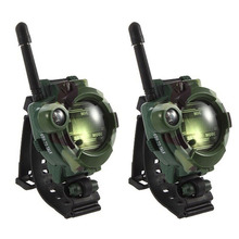 2 Pcs family games Children Toy Walkie Talkie Kids Watch Style Outdoor Interphone Gifts Toys Camouflage military field(China)