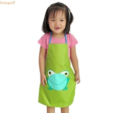 Saingace 1PC Kids Children Waterproof Print Apron Paint Eat Drink Outerwear quality first DROP SHIP(China)