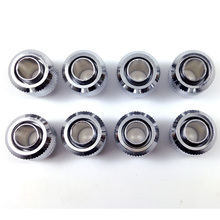 "(8pcs/lot) 3/8""ID X 1/2""OD (9.5 X 12.7mm tubing) Compression Fittings G1/4"" thread ----- Silver"