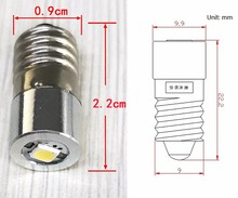 E10  P13.5S 1W LED For Focus Flashlight Replacement Bulb Torches Work Light Lamp  DC3V 4.5v 6V 7v 9v 12v 15V 1watt bulbs