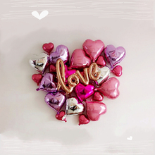 Buy DIY Foil Love Balloons Kit Wedding Decoration Engagement Party Wedding Centerpieces Bachelorette Party Bridal Shower Decoration for $11.38 in AliExpress store