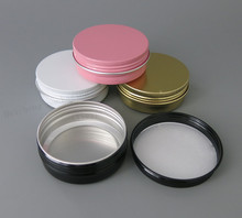 30 x Refillable Aluminum Jars 60ml Black Gold White Pink Metal Tin 2oz Cosmetic Containers Crafts Packaging(China)