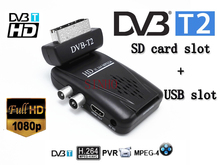 mini scart the smallest mini HD DVB-T2 tv receiver compatilbe with DVB-T/MPEG-4/H.264 dvb t2 tuner hdmi+scart output(China)