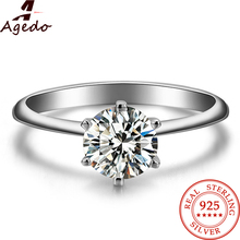 Charm Vintage 925 Sterling Silver Ring Fine Jewelry Ring Diamond Jewelry Engagement Wedding Rings For Women Gift 8014