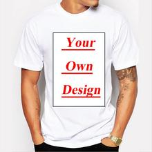 Customized Men's T shirt Print Your Own Design High Quality Send Out In 3 Days(China)