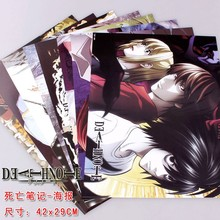 8 pcs Anime posters Death Note set L Lawlie Yagami Light figures poster 42x29cm for wall free shipping