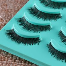 2017 Hot Sexy Fashion Women 5 Pairs Short Cross False Eyelashes Daily Handmade Party Wedding Eye lashes Beauty Tool Hot(China)