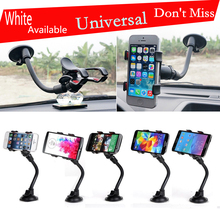 Universal Dual Clip Car Windshield Windscreen Suction Cup Mount Stand Phone Holder For iPhone 6 Samsung s6 HTC Sony LG Nokia GPS(China)