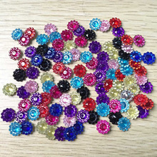 100pcs 11mm Scrapbook Appliques craft  wedding decoration Clothing accessories  Nice plastic round sunflowers B05A