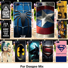 TAOYUNXI Silicone Phone Cover Case For Doogee Mix 5.5 inch Cover Soft TPU Case Superman Captain American Housing Drawing Shell(China)