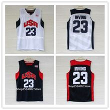 #23 Kyrie Irving 2012 London Dream Team USA Throwback Basketball Jersey US Size S-XXL(China)