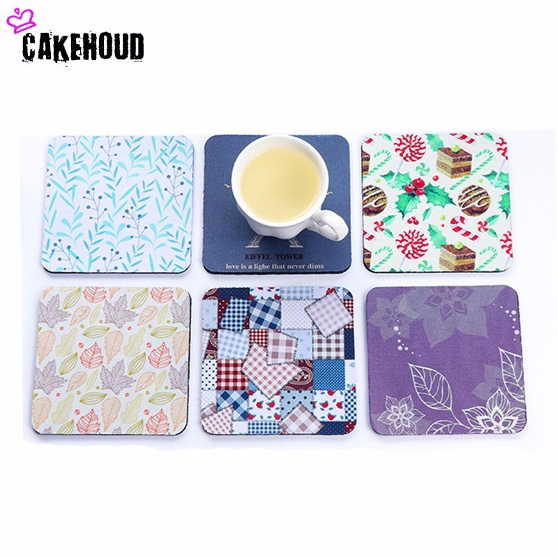 Multiple Colors Rubber Cup Mat Cute Colorful Button Cup Coaster Cup Cushion Holder Drink Cup Placemat Mat Pads Coffee Pad(China)