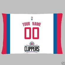 NEW Custom  Los Angeles Clippers BasketBall Pillow Case With Your Name and Numbers
