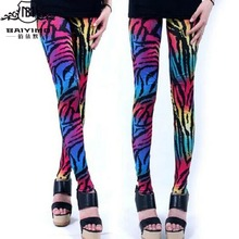 2016 New Fashion Color Zebra Leggings Animals Pattern Pantyhose Pants Wholesale Custom Pants LUCKY 772 One Size
