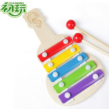 Early Enlightenment Music Teaching aids hands knock music Wooden Children Five Sound Hand Piano Toys for kids toys lepin(China)