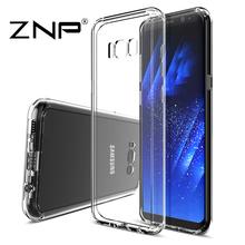 ZNP Transparent Case For Samsung Galaxy S8 Ultra Thin Clear Soft TPU Silicone Cover Cases For Galaxy S8 Plus Case Coque Fundas