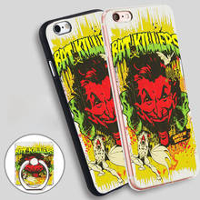 joker retro comic book montage Phone Ring Holder Soft TPU Silicone Case Cover for iPhone 4 4S 5C 5 SE 5S 6 6S 7 Plus