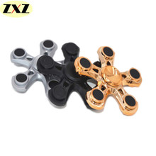 New five corner plastic EDC Spinner Fidget finger pressure reducing toy electroplating gyro Hand Spinner Fidget and ADHD toys