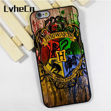 LvheCn phone case cover fit for iPhone 4 4s 5 5s 5c SE 6 6s 7 8 plus X ipod touch 4 5 6 Harry Potter Hogwarts On Wood(China)