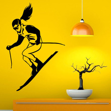 Skiing Ski Hot Sale Wall Decals Skier Living Room Decorations Vinyl Wall Stickers Art Design Adhesive
