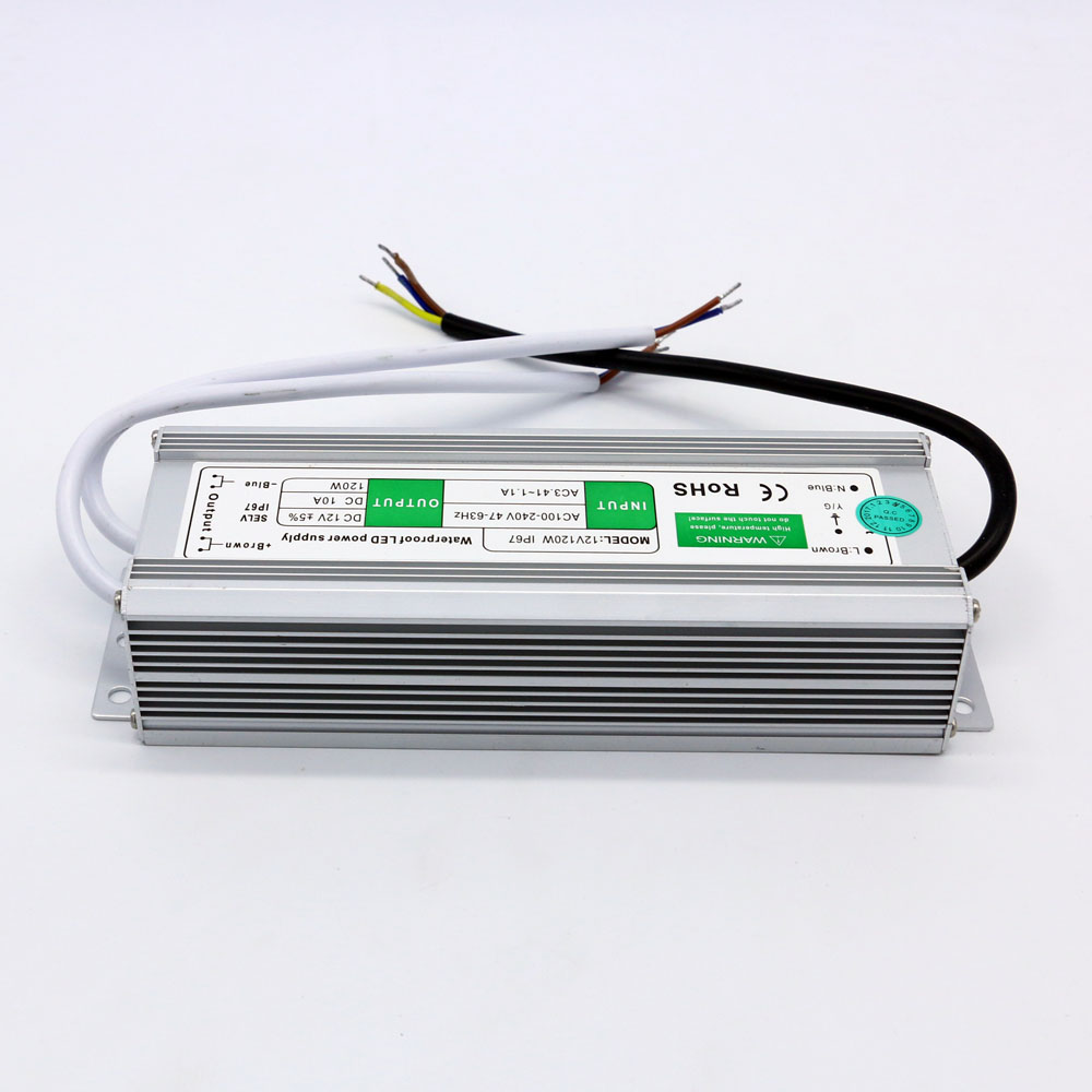 Dc 12V 10A 120W Waterproof Outdoor Led Driver Power Supply<br>