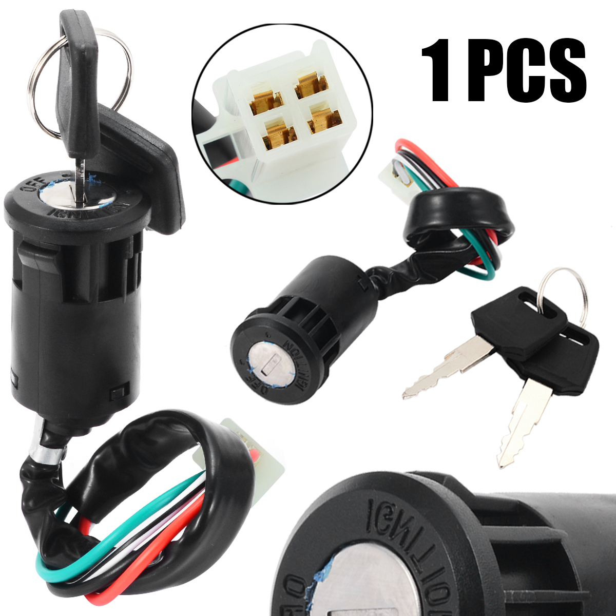 10pcs 4 Wire Ignition Key Lock Switch with 2 keys for KTM motorcycles /& ATV/'s