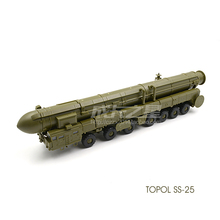 NEW Tools 1/72 Russia RT-2PM2 SS-27 Sickle B Topol M intercontinental ballistic missiles model kits MZKT-79221 Truck Car Toy(China)
