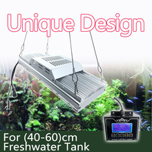 "DSunY Programmable 4 channels timer dimmable aquarium led lighting ,16""-24"" 100W FRESH WATER fish plant tank with sunrise sunset"