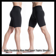 High Flexibility Men PRO Sport Tights,GYM Running Tight short Pants,for Football&Basketball&Training&Body-building,Super Slim