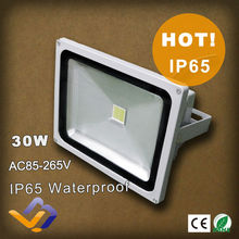 Factory Sale 30W LED Flood light Outdoor Black Floodlight Cool|Warm White 85V-265V Advertising lamp IP 65 3 year Warranty