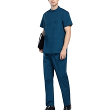 Men Round neck Doctor Uniform Hospital Medical Scrub Set Clothes Short Sleeve Surgical Scrubs Male Medical Uniform(China)